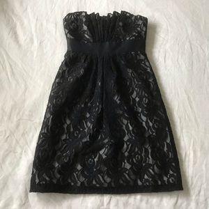 White House Black Market // Strapless Lace Dress
